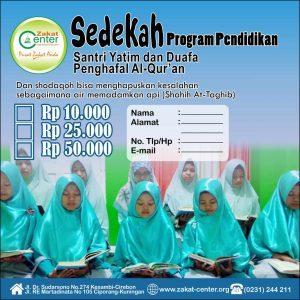 Sedekah Penghafal Al-Qur'an